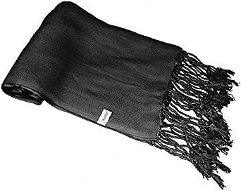 Kuldip Factory Seconds Pashmina Scarf Shawl Wrap Throw Black