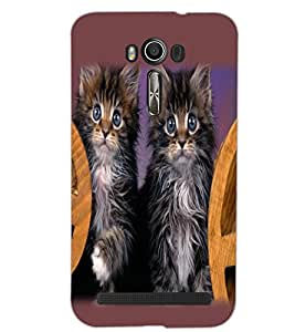 ASUS ZENFONE 2 LASER ZE550KL CATS Back Cover by PRINTSWAG