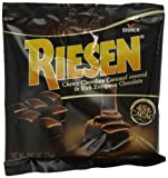 RIESEN Chewy Caramels, Chocolate, 2.65-Ounce (Pack of 12)