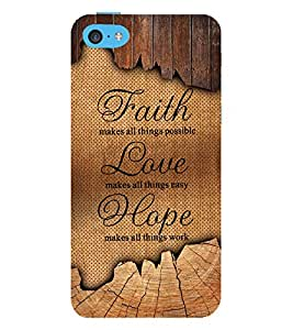 Faith Love Hope 3D Hard Polycarbonate Designer Back Case Cover for Apple iPod Touch 6 (6th Generation)