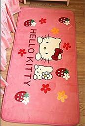 Speaking Life Cute Hello Kitty Carpet Non-slip Rug in Bedroom/livingroom Rectangular Door Mat (D)