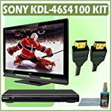 Sony Bravia S-Series KDL-46S4100 46-inch 1080P LCD HDTV + Sony DVD Player w/ Accessory Kit
