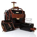 Samantha Brown Croco First Class Underseater Wheeled Luggage - Black