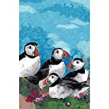 Puffin Linen Tea Towel