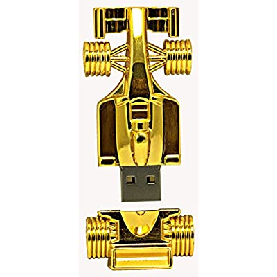 16 GB Pen Drive Golden Color F1 Shape USB 2.0 Pen Drive MT1027