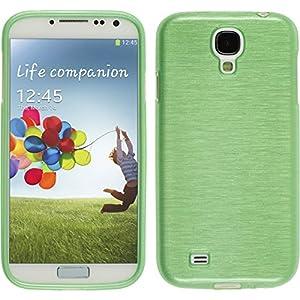 Silikon Hülle für Samsung Galaxy S4 - brushed grün - Cover PhoneNatic Schutzhülle Case