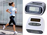 Solar Power Calorie Consumption Run Step Pedometer Distance Counter with LCD Scree