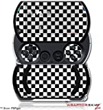 Checkered Canvas Black And White Decal Style Skins (Fits Sony Ps Pgo)