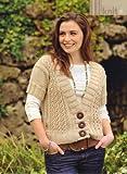 Kistie McLeod Cream Caramel Women's Short Sleeved Aran Cardigan Knitting Pattern: To fit bust or chest 32