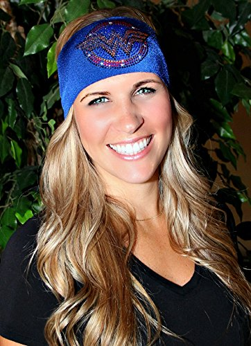 RAVEbandz-Sports-Fitness-Headbands-WONDER-WOMAN-Rhinestone