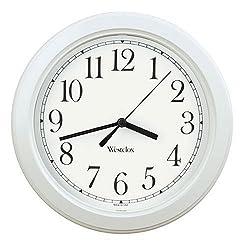 Westclox Simplicity Wall Clock, White