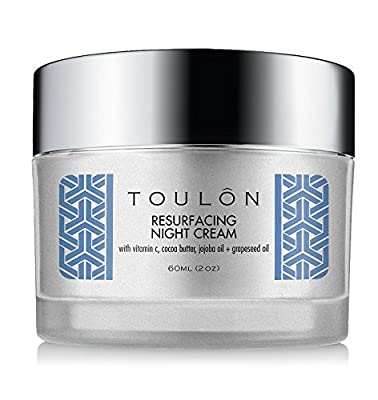 Night Cream Natural Face Moisturizer with Vitamin C, Cocoa Butter & Grapeseed Oil to Build Collagen, Reduce Wrinkles & Firm Neck and Decollete. Free Gift/No Risk
