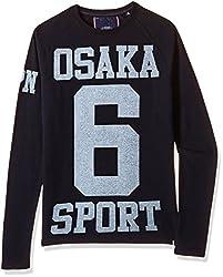 Superdry Men's Cotton Sweater (5054265854439_M60000XN_XS_Eclipse Navy)