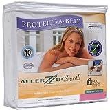 Protect-A-Bed 13-Inch Allerzip Smooth Mattress Encasement, Queen