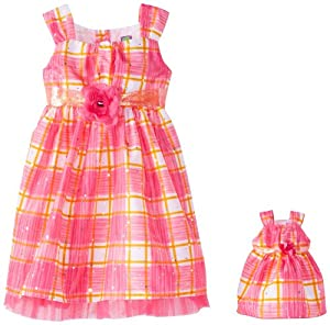 Dollie & Me Girls 2-6X Plaid Dress with Crinolin by Dollie & Me