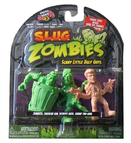S.L.U.G. ZOMBIES FIGURES (SERIES 3) - Trashcan Sam, Decrepit Katie, Johnny Two-Guns