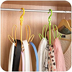 HOME CUBE 2 Pc Shoes Drying Hanger / Ties / Belts /Scarf / Coat / Clothes & Bags Organizer - Random Color