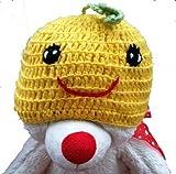 LadyMYP Handmade Knitted cap Baby cap Childrens Hat Hats 100 Wool Hat Pumpkin