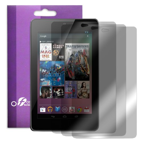 Fosmon Crystal Clear Screen Protector for Google Nexus 7 - (3 pc) + Fosmon Mini Stylus Plug