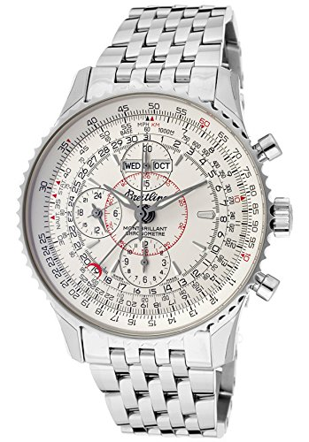 Breitling Men's Navitimer Automatic/Mechanical Chronograph Ivory Dial Stainless Steel