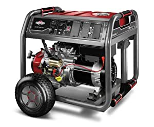 Briggs & Stratton 30471 8000-Watt Gas Powered Portable Generator with 2100 Series 420cc Engine and Key Electric Start, Engine Oil Included (Discontinued by Manufacturer)