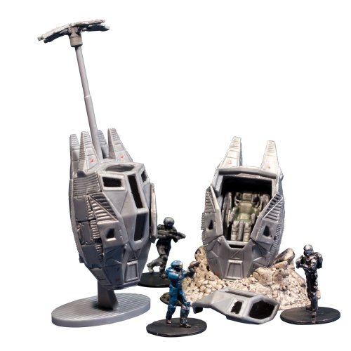 McFarlane Toys Halo Micro Ops Series 1: Odst Drop Pads (Includes 2 with Debris Base, Drag Chute and Buck) - 1