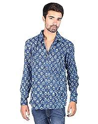 Rajrang Mens Cotton Shirt -Indigo -Xx-Large