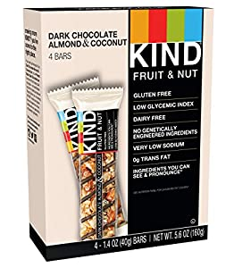 KIND Bars, Dark Chocolate Almond & Coconut , 1.4 Oz. Bars, 4 Count from KIND LLC