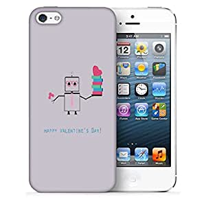 Snoogg Happy Valentine'S Day Printed Protective Phone Back Case Cover For Apple Iphone 5 / 5S