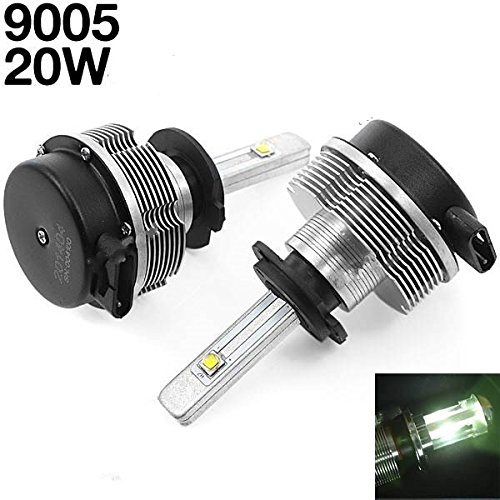 Riorand® 2Pcs Dc 12-24V 9006 20W 6000K 2-Cree Led Car White Light Headlight Lamp Rr-318166