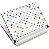 Luxburg® Design skin de protection sticker film autocollant pour ordinateur portable 10 / 12 / 13 / 14 / 15 pouces, motif: LX Modèle blanc