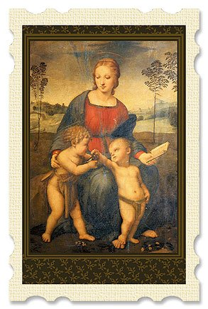 Madonna of the Goldfinch Old Masters Holy Card, Pack of 24