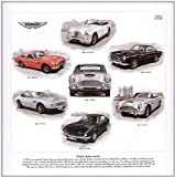 Classic Aston Martin Art Print --- DB2/4, DB4, DB5, DB6, DBS & AM V8. Ready to frame.