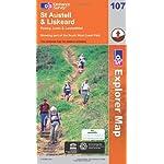 Walking map for St Austell & Liskeard