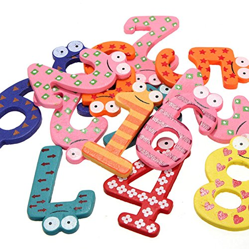 """Wooden Fridge Magnet Education Kid Toy"""",""""Home and Garden Be the first to write a review 10 Number"""