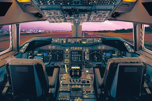 Boeing 747400 Flight Deck Airplanes Poster Print 36x24 Poster