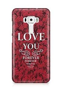 YuBingo Love You Forever…….. Designer Mobile Case Back Cover for Asus Zenfone 3 552 KL