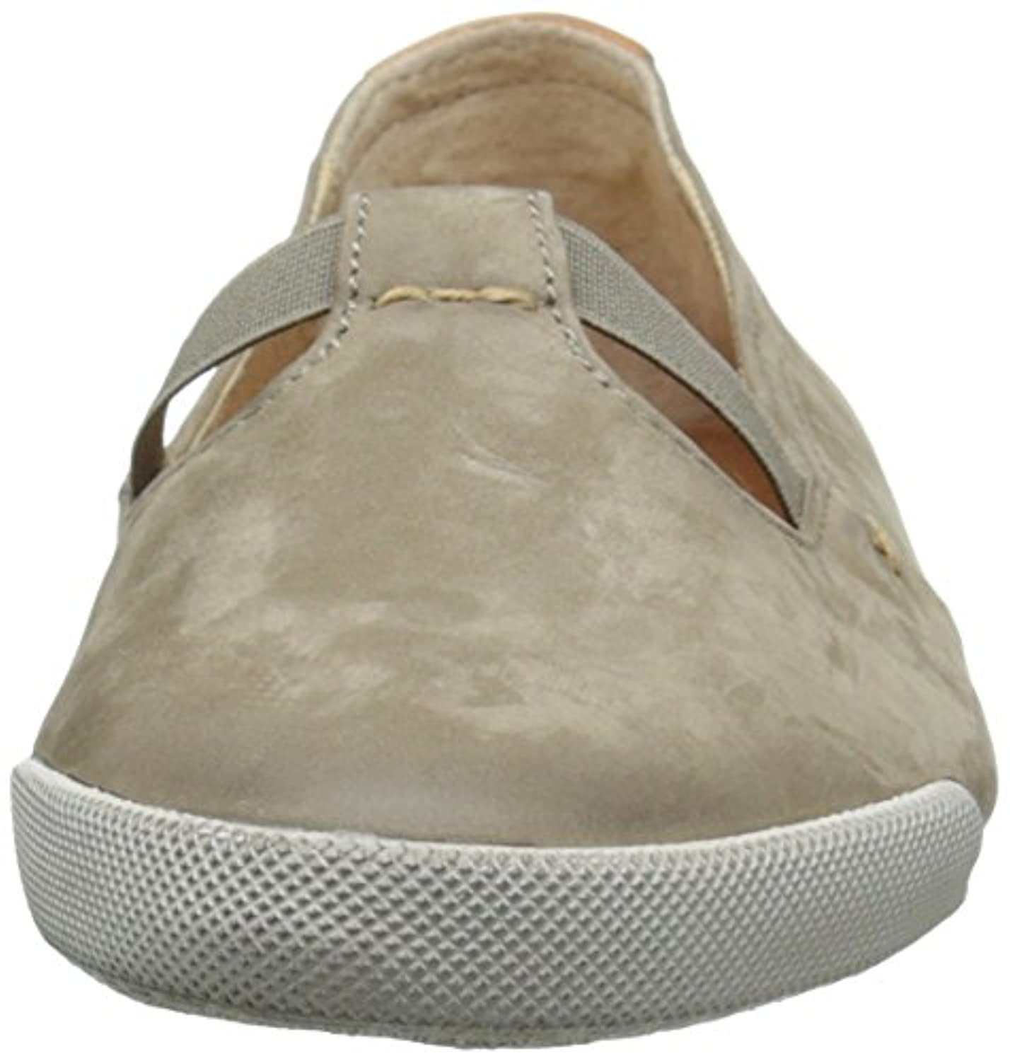 FRYE Women's Melanie T Strap Bufnu Fashion Sneaker, Grey, 7.5 M US