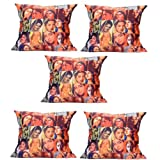 MeSleep Digitally Printed Bombay Collage 5 Piece Cushion Cover Set - Multicolor (16CDBLC-95m-05)