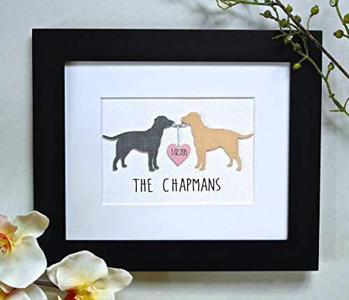 Perfect Christmas Gift For Dog Lovers! 3D Custom Dog Art - ANY BREED and COLORS! - Unique Wedding Gift, Personalized Dog Print