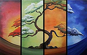 24 mini mural four seasons tree 1 wall for 4 seasons mural