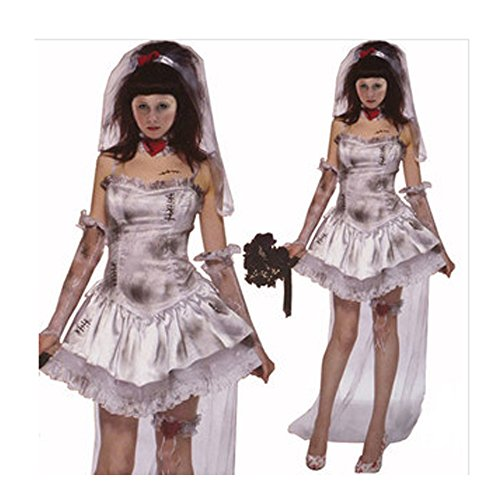 Women's Halloween Sexy Corpse Bride Ghostly Costumes