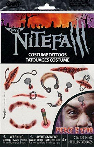 Pierce and Stab Nitefall Costume Tattoos - 1