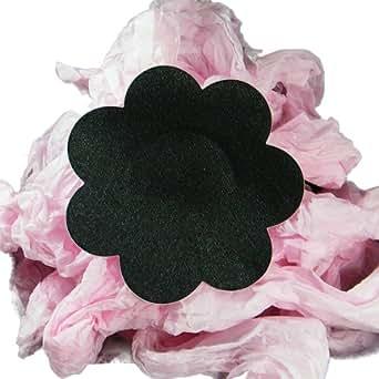 Cache téton satin de Juliet's Kiss Lingerie. Taille unique. (fleur noire)