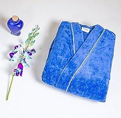 Spaces Enrobe Cotton Small Bathrobe - Denim Blue