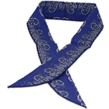 Cool Wrap 303 BP Cooling Scarfs, Blue with Print