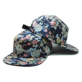 Amazon.com: HIP HOP 5 Painel Floral Hats Flower Sun Adjustable