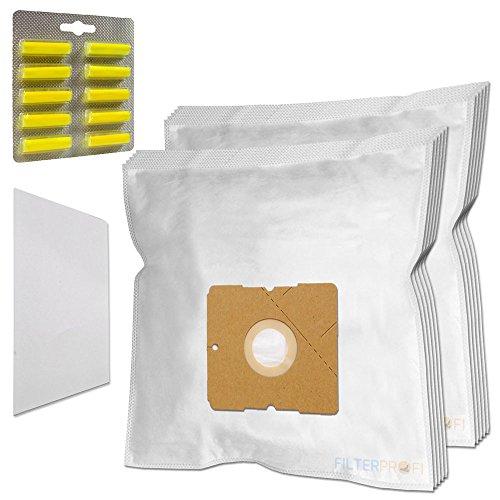 SET 10 Staubsaugerbeutel / Staubbeutel / Filtertüten + 10 Duft geeignet für AEG / Electrolux AE 3400 bis 3499 Ingenio, AE 3450 / AE3450, AE 3450 Ingenio, AE 3455 Ingenio