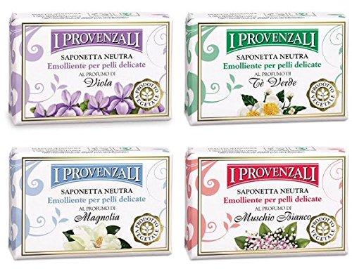 i-provenzali-saponetta-neutra-emolliente-set-of-4-emollient-neutral-soaps-green-tea-magnolia-violet-