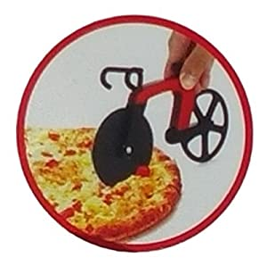 Cucina Vita Bicycle Pizza Cutter Red